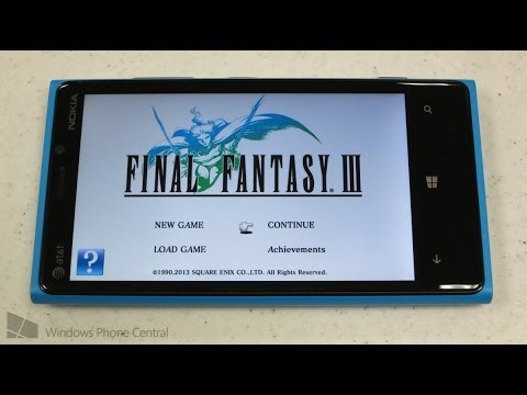 Final Fantasy III: Windows Phone Gameplay