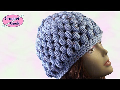 Crochet Puff Stitch Hat Crafting - Crochet Geek