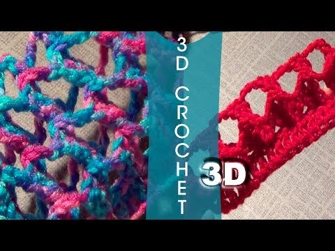 3D Crochet Stitch | Three Dimensional Crochet