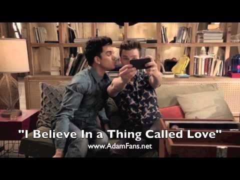 Adam Lambert & Chris Colfer (Glee Cast) I Believe In A Thing Called Love