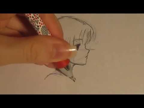 How to draw anime: Side profile (female)