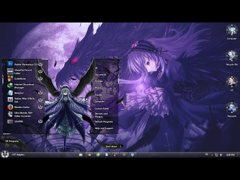 How To Install Theme Anime For Windows 7