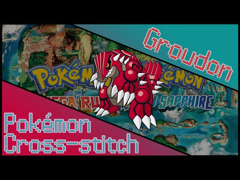 Pokémon Cross-stitch: Groudon OR/AS Release Hype!